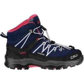 CMP Campagnolo Rigel WP Chaussures de trekking mi-hautes Enfant, marine-corallo